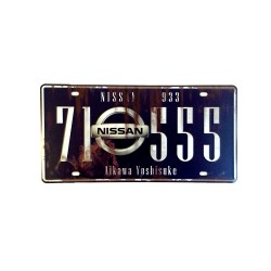 License plate, metal sheet metal poster for decoration - Nissan