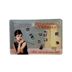 Póster de metal vintage para decoración - Breakfast at Tiffany´s