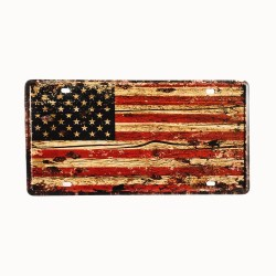 Placa de matrícula, póster de metal para decoración vintage – USA Flag