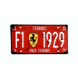License plate, metal sheet metal poster for decoration – Ferrari