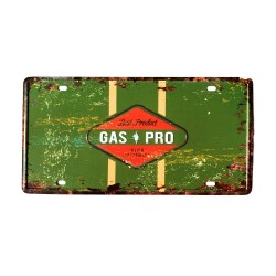 License plate, metal sheet metal poster for decoration – Gas Pro