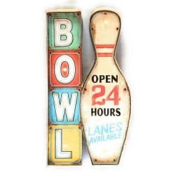 Bowling - Vintage LED Metal Light Sign