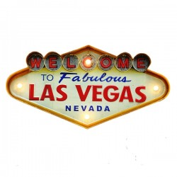 Las Vegas - Vintage LED Metal Light Sign