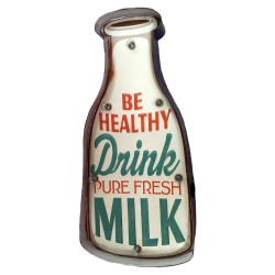 Cartel luminoso Vintage Milk