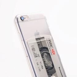 Housse en silicone avec porte-carte Iphone X.
